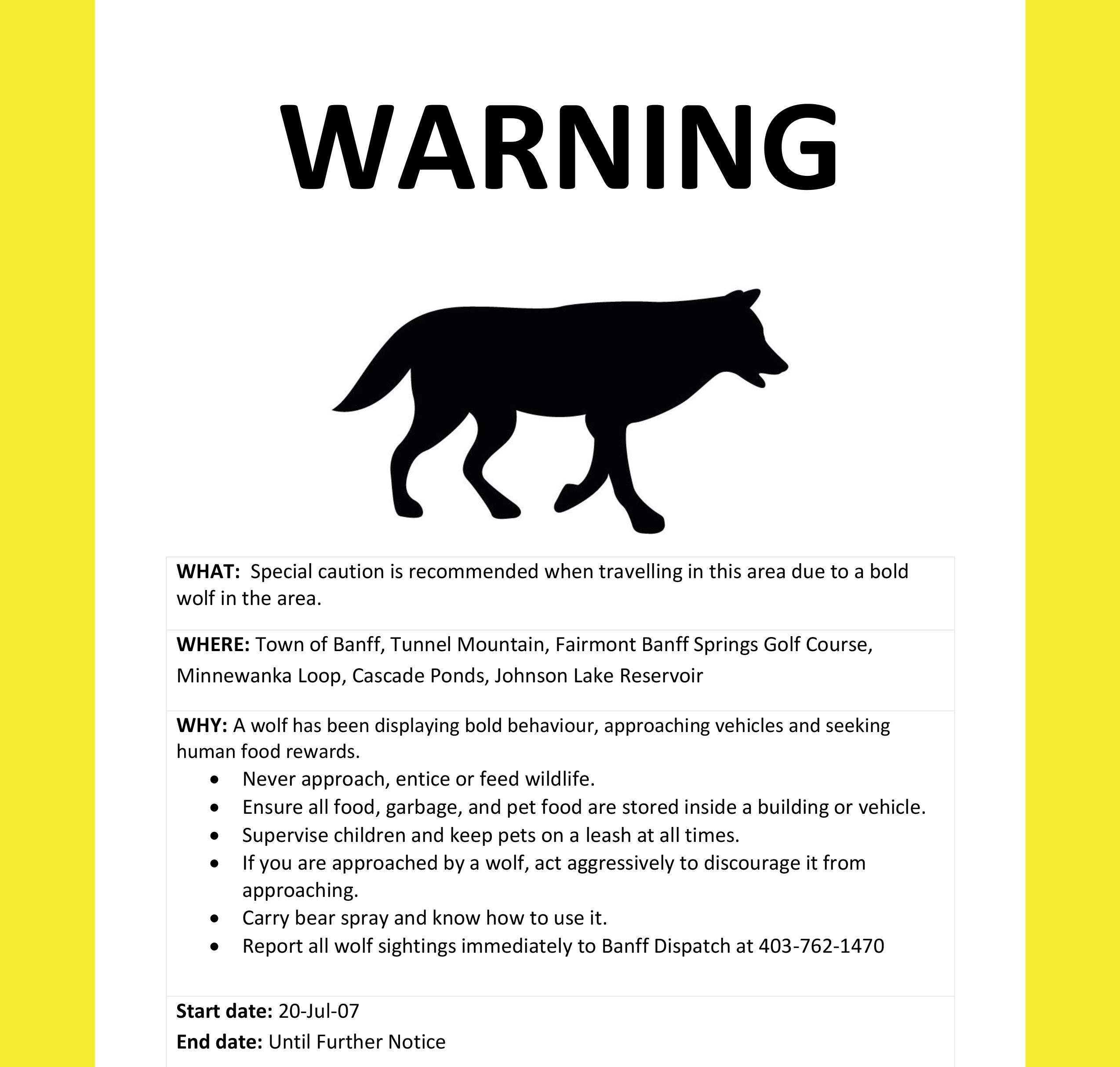 Wolf Warning news