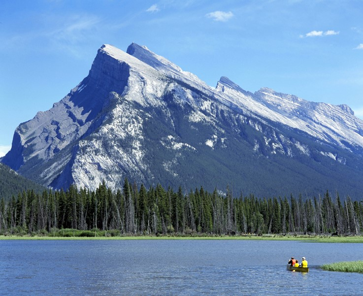 Canoe on Vermilion Lakes