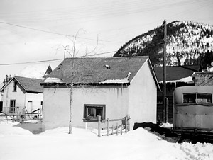 Ping's Cabin and Tailor Shop, circa March 1948