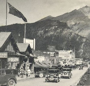 100 block Banff Ave in the 1930s