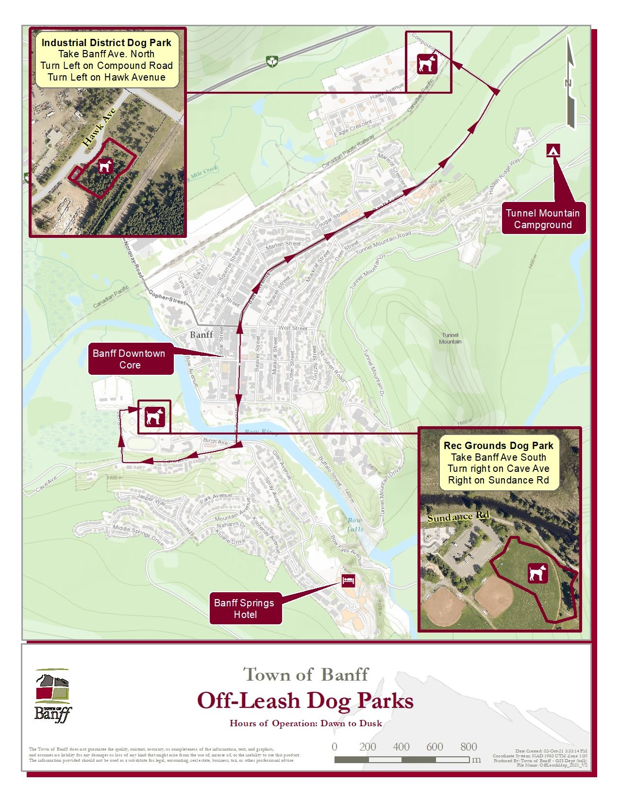 Map of the Off Leash Dog Park