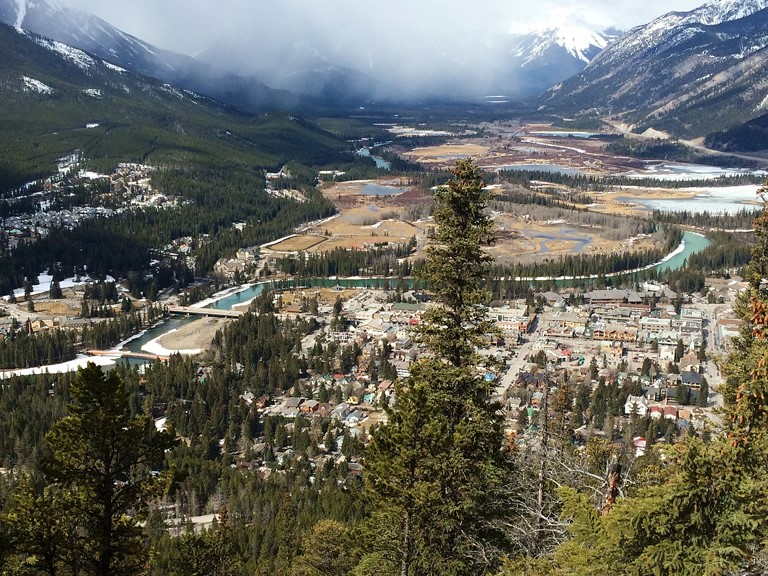 View of Banff from Tunnel