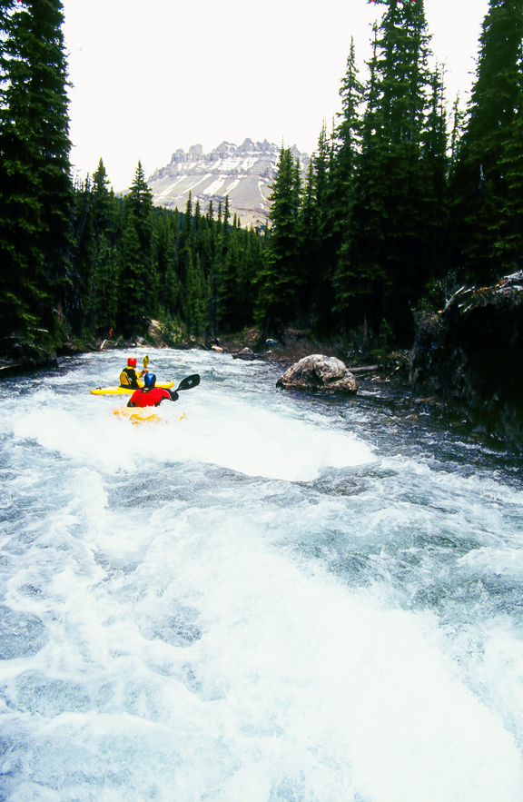 Kayaking in Banff