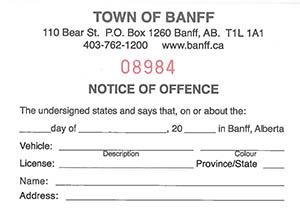 banff ab official website appeal a parking ticket. Black Bedroom Furniture Sets. Home Design Ideas