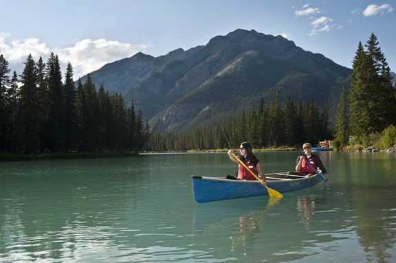 Banff ab official website canoeing for Fishing in banff
